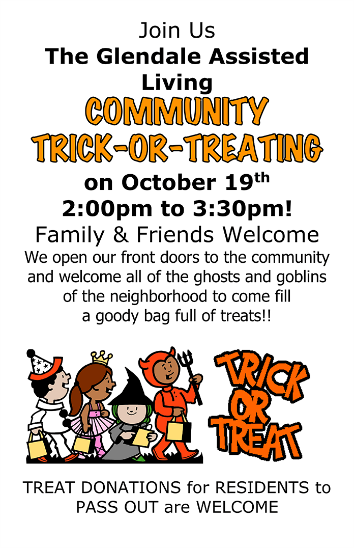 Community Trick or Treating on October 19, 2019